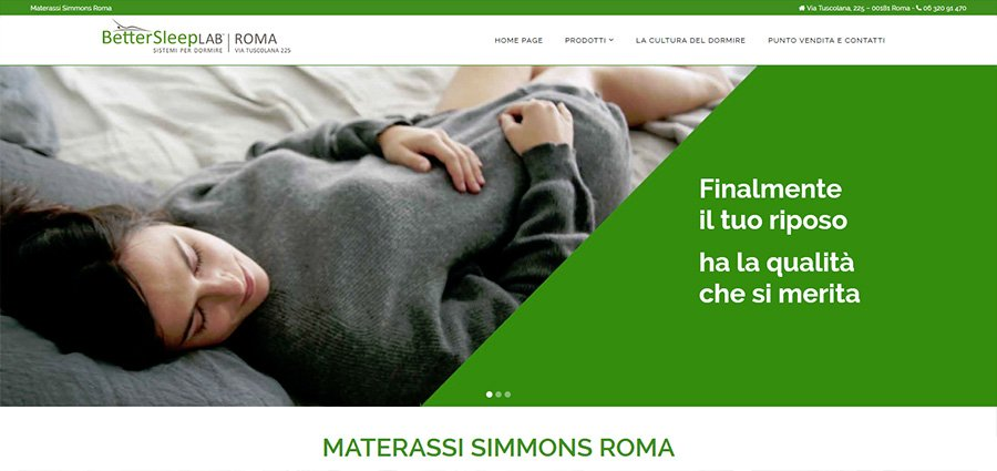 Materassi Simmons Roma BetterSleepLAB